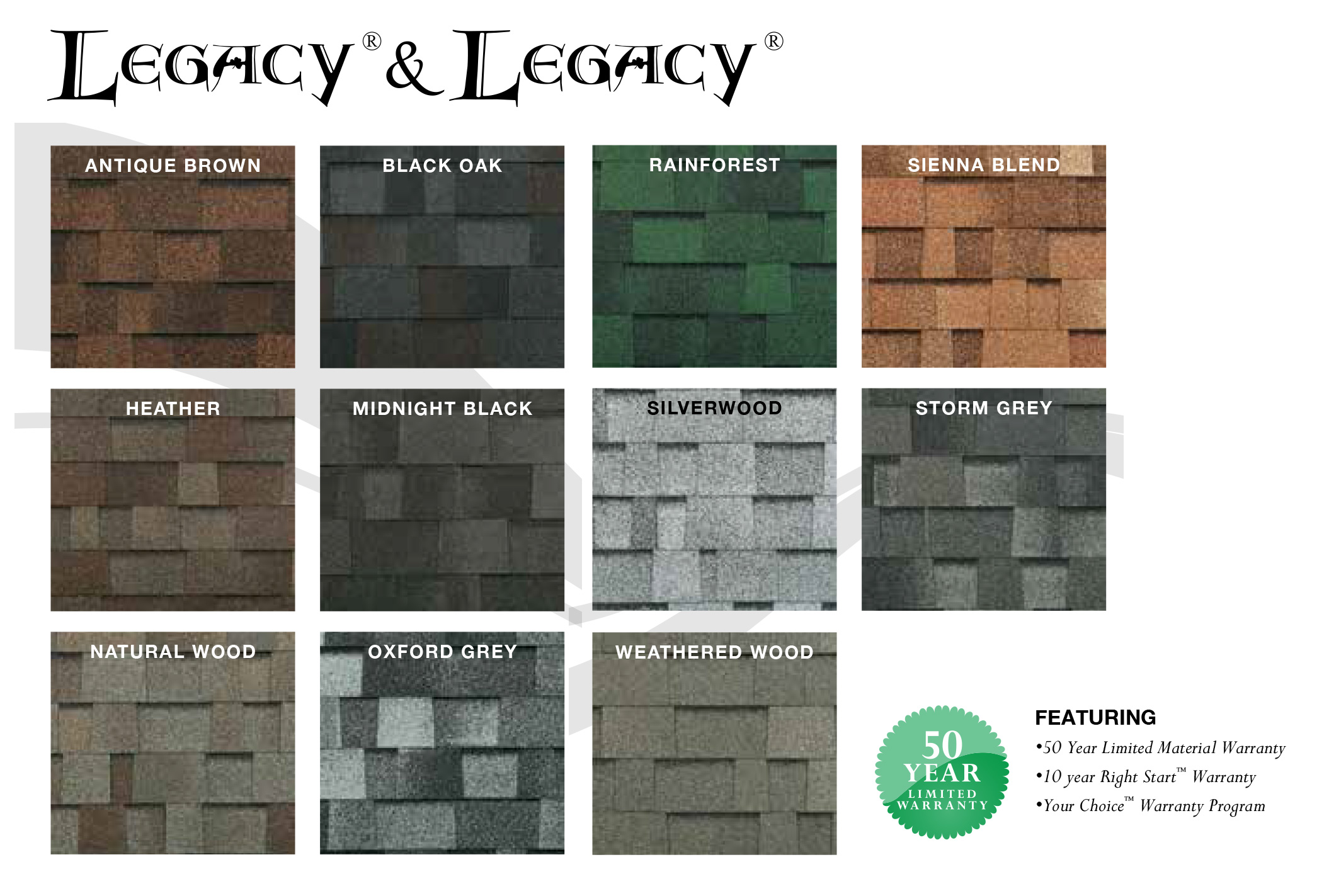 MALARKEY SHINGLE COLOR SELECTION