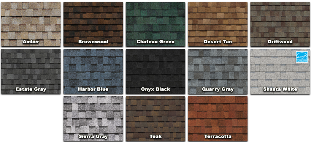 OWENS CORNING DURATION COLOR AVAILABILITY